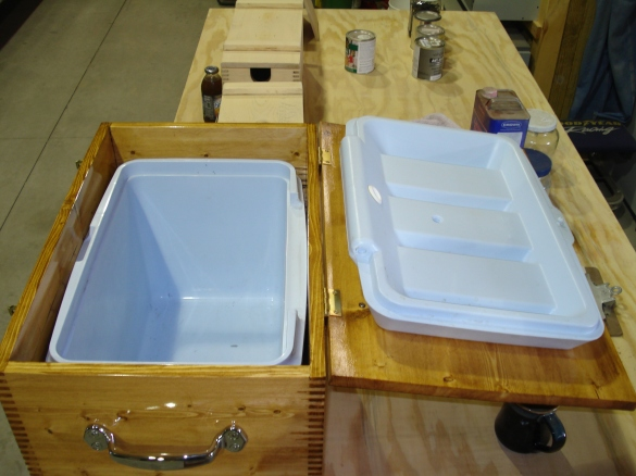 homemade ice chest plans