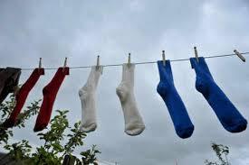 socks clothesline