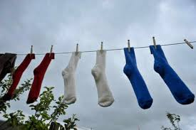socks clothesline