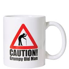 old man coffee cup